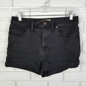 Madewell Denim High Rise Shorts 28 Washed Black